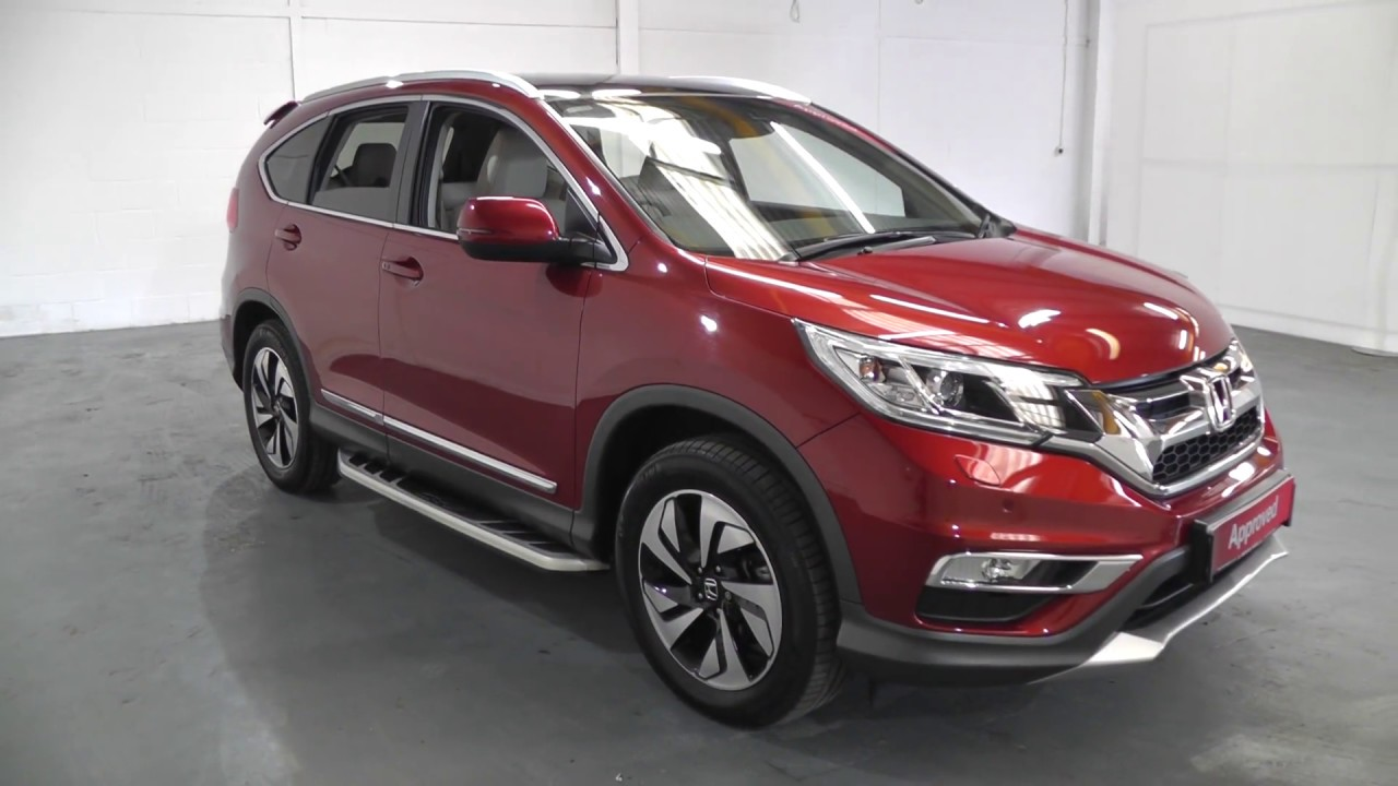 Honda Hrv Vs Crv >> Honda CR-V 1.6 EX AUTO in passion red pearl , video walkaround ! - YouTube