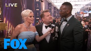 Mahershala Ali Crashes James Corden's Interview | EMMYS LIVE! 2019