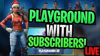 Playground 1v1's Against Subscriber's!! (JOIN!) EPIC- SellToasty
