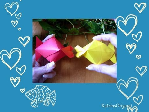 Origami ᘠ♥ᘡ Kissing Fish ᘠ♥ᘡ