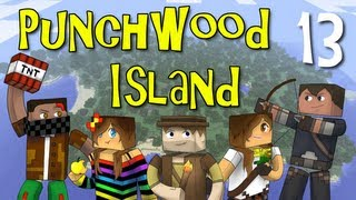 "Punchwood Island E13 ""lightning Storm"" (minecraft Family Survival)"