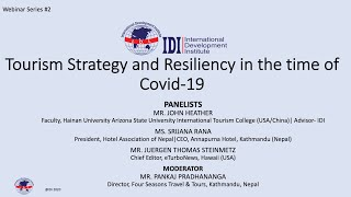 Webinar Series 2 Tourism Strategy and Resiliency in the time of Covid 19