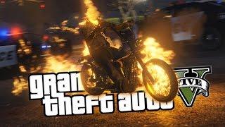 GTA 5 Mods : ПРИЗРАЧНЫЙ ГОНЩИК (Ghost Rider)