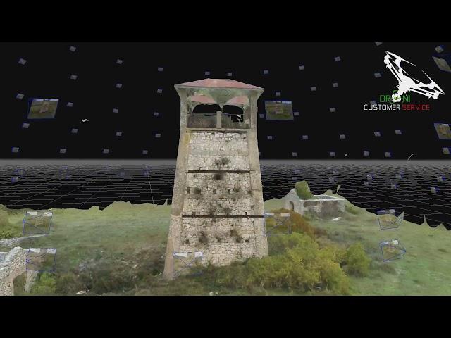 Fotogrammetria Aerea con Drone ricostruzione 3D animata vecchio cementificio Sant Anatolia Rieti