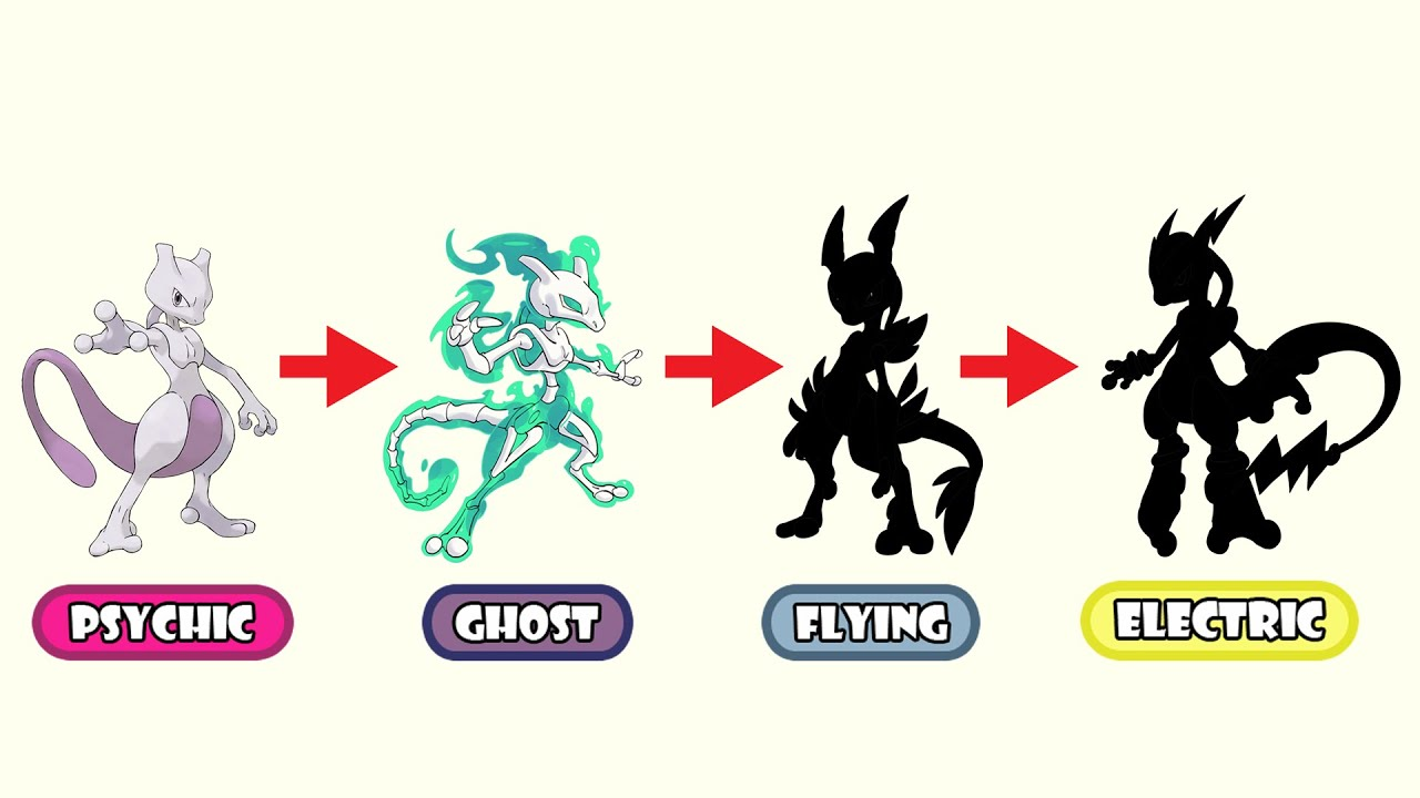 Mewtwo Type Swap - Ghost, Flying, Electric.