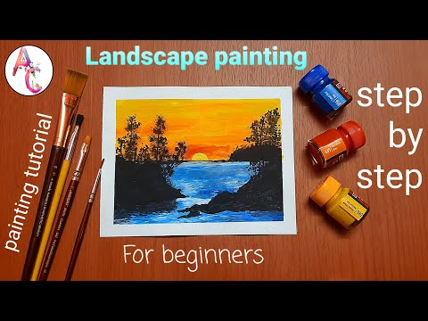 Easy Landscape painting for beginners /step by step painting tutorial |An ARTIST'S Choice