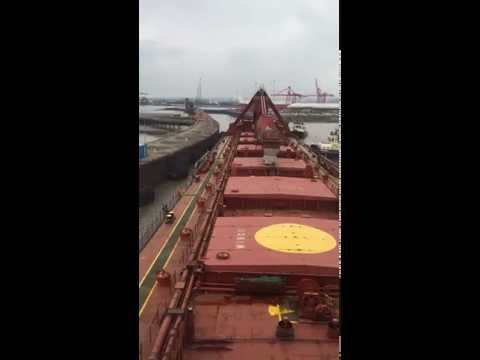 Docking of the Yeoman Bank into Portbury docks
