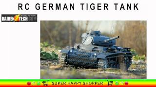 rc german tiger tank huge remote control military toy model kit with smoke sound