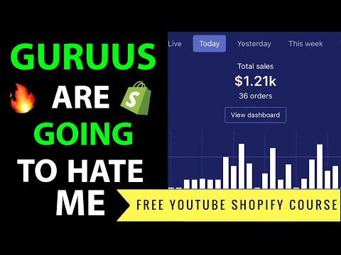 SHOPIFY NEW STORE FROM $0 TO $1,000 A DAY STEP BY STEP FREE YOUTUBE COURSE - Shopify Dropshipping thumbnail