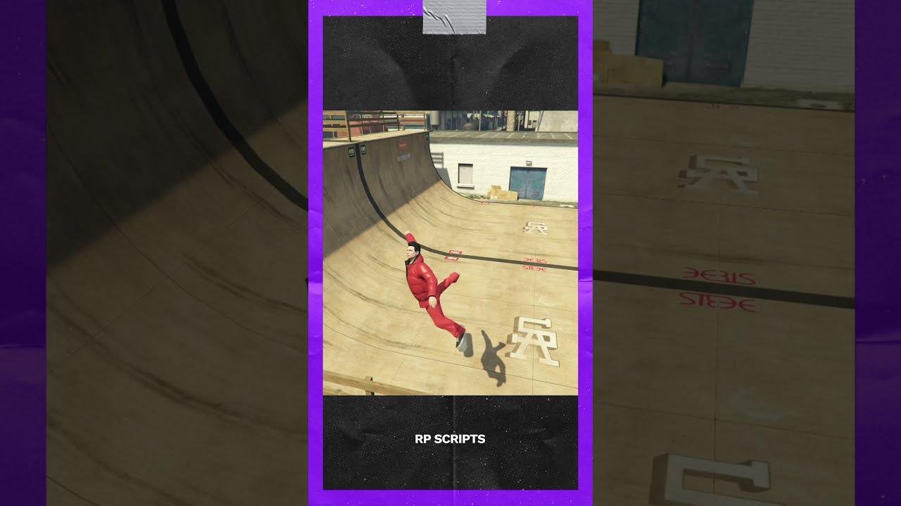 FiveM Fails Skateboard Skate Practice #Shorts