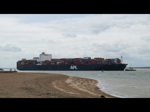 Containership APL MIAMI - 1st call at port of felixstowe 5/6/17