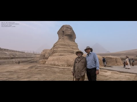 John Anthony West in The Great Sphinx and The Solar Boat Museum - 2016