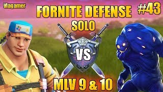 Defense Morne the Valley 9 - 10 SOLO Fortnite Saving the World #43