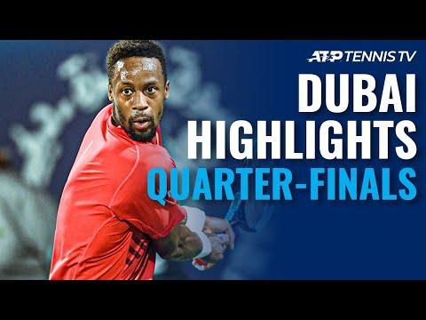 Monfils, Djokovic Unstoppable; Tsitsipas Moves On | Dubai 2020 Quarter-Final Highlights