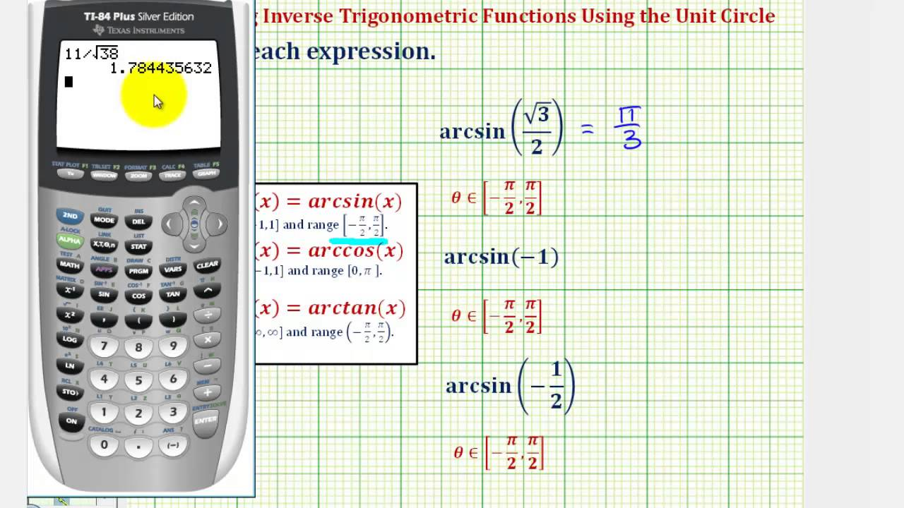 Graphing inverse trig functions on the ti-86.