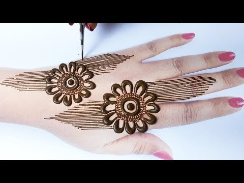 Stylish Mehndi Design - Latest Mehndi Design Trick for Hands - आसान शेडेड मेहँदी डिज़ाइन लगाना सीखे
