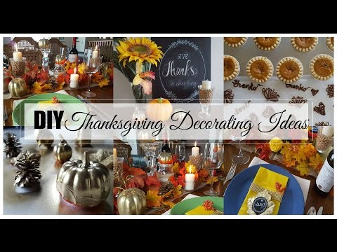 Easy Thanksgiving Decorating Ideas -  Dollar Store Goodies!