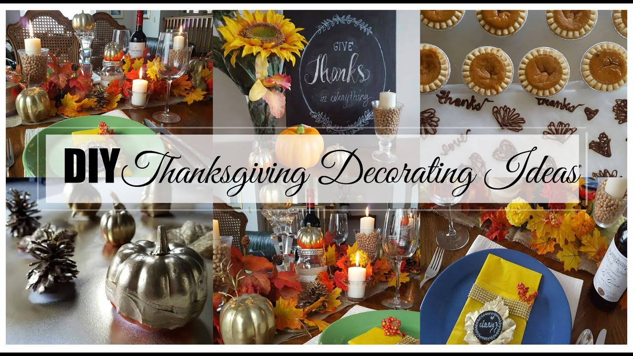 Easy Thanksgiving Decorating Ideas   Dollar Store Goodies!   YouTube