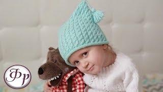 Детская шапка с косами. Как связать шапку/мастер класс