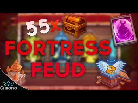 Castle Clash | Fortress Feud Chest Opening X55 | Amazing Rewards!!