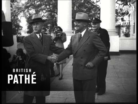 Chile's President Rios Welcomed By Truman (1945)
