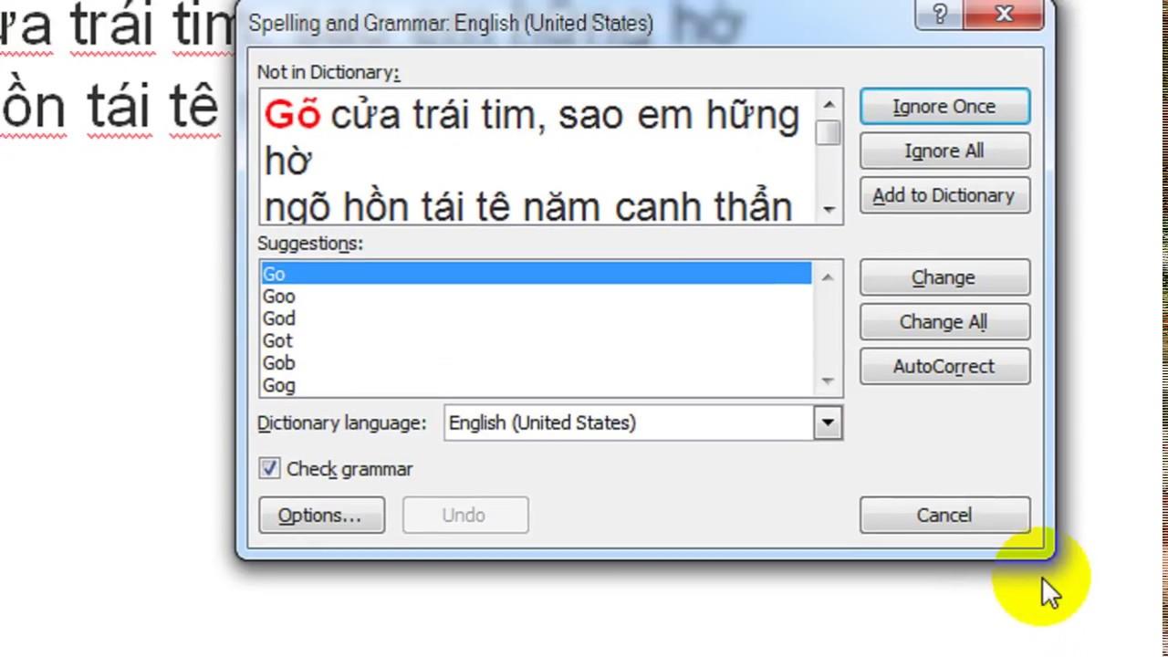 Tắt tính năng kiểm tra chính tả trong word 2007