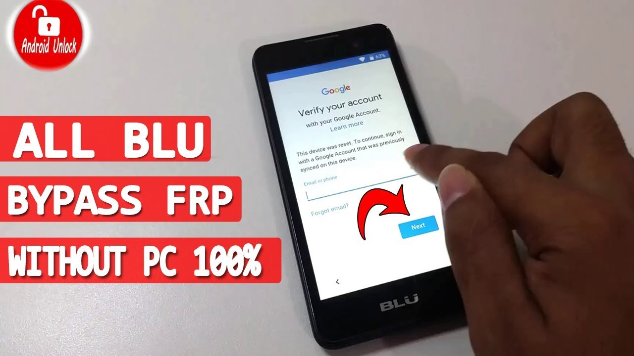 🔥 ALL BLU FRP BYPASS | WITHOUT PC | REMOVE GOOGLE ACCOUNT LOCK |  #AndroidUnlock