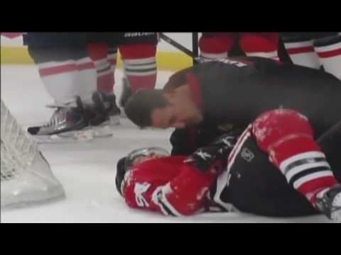 Ovechkin Injures Brian Campbell and Gets Ejected