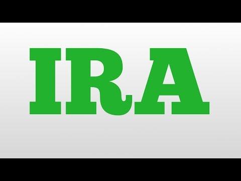 IRA meaning and pronunciation