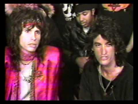 """Run-DMC / Aerosmith """"Walk This Way"""" Studio Collab - MTV Report [1986]"""