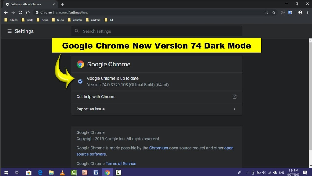 Enable Dark Mode on New Version of Google Chrome in Windows 10 | Without  Extension