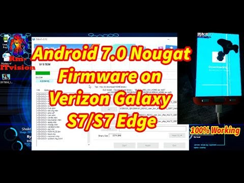 How To Install Android 7.0 Nougat,Firmware On Verizon Galaxy S7/S7 Edge,Android7.0 Firmware SM-G935V