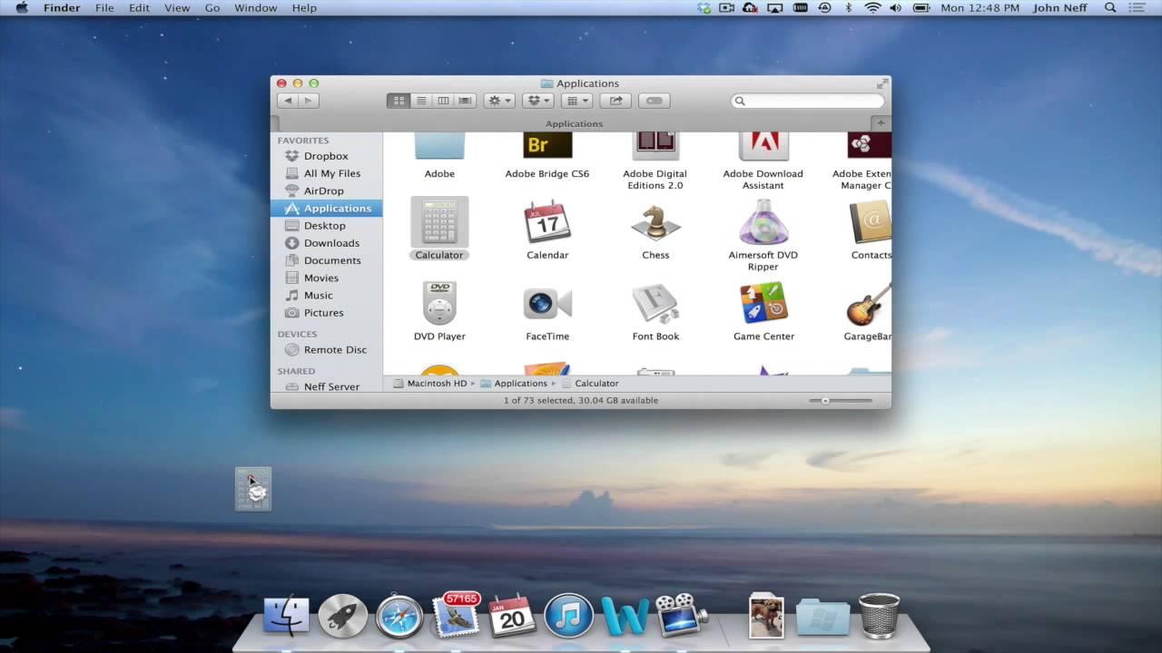 Apps in dock mac