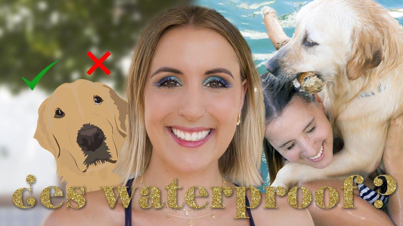 Probando maquillaje resistente al agua   Chapuzón con maquillaje waterproof