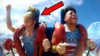 Girls Passing Out #5 | Funny Slingshot Ride Compilation