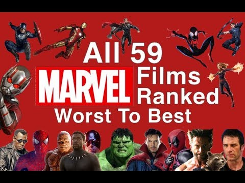 All 59 Marvel Films Ranked Worst To Best