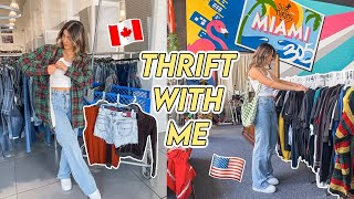 THRIFT WITH ME IN MIAMI vs TORONTO ☆ juicy couture, tommy, y2k + more!