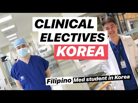 FILIPINO MEDICAL STUDENT in South Korea (Clinical Electives Rotation)