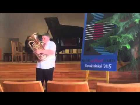 """Rossini """"William Tell Overture"""" Baritone/Euphonium  and Piano duet ( 11 and 12 years old musicians)"""