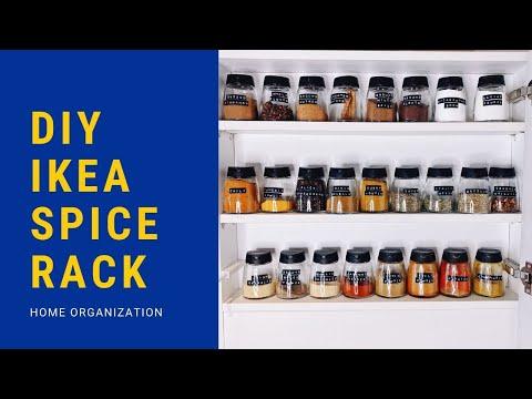 DIY IKEA SPICE RACK ORGANIZATION | AllAboutAnika