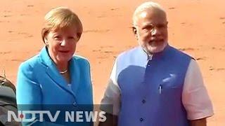 Business first as German Chancellor Angela Merkel meets PM Modi