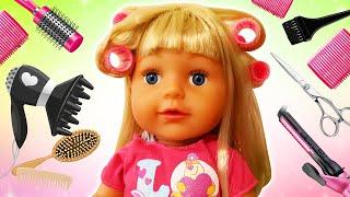 Видео куклы - Причёска для БЕБИ БОН и Принцесс ДИСНЕЯ! - Прикольные видео игры парикмахерская