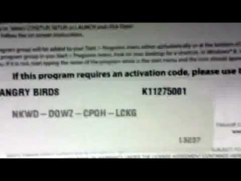 angry bird rovio activation key