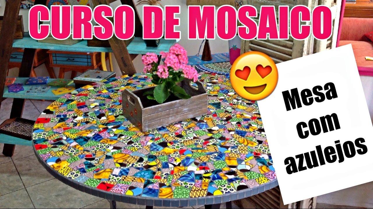 Curso de mosaico 2 como fazer mesa de mosaico com for Como criar caracoles de jardin