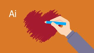 How to apply a Scribble effect in Illustrator.❤❤❤