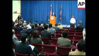US treasury secretary John Snow at trade talks