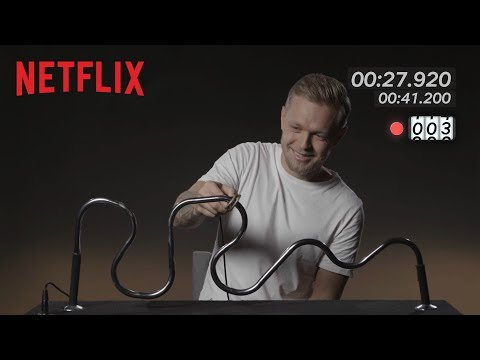 Formula 1's Kevin Magnussen takes on the Buzzwire Challenge   Netflix