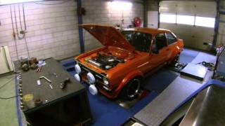 Ford Escort MK2 with Zetec 2000cc engine throttle bodies KMS MP25