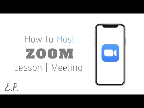 How to Host / Schedule Zoom Video Conference Using Your Phone