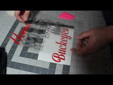 Assembling Vinyl Decals Oracal Transfer Tape Brother ScanNCut - Transfer tape for vinyl decals